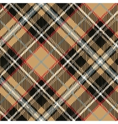 tartan seamless patterndiagonal backgroundbeige vector image