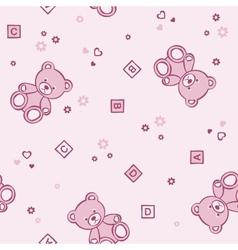 Teddy bears seamless background vector image