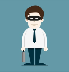 Thief in business man vector