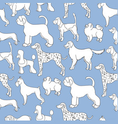 unusual seamless pattern with cartoon dogs vector image