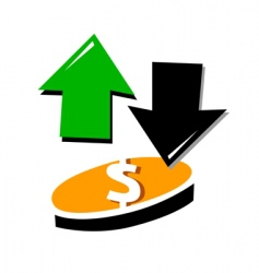 up and down currency vector image vector image