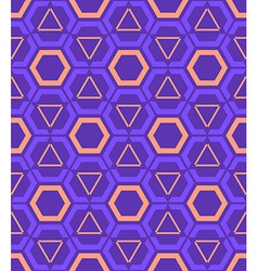 violet purple orange color abstract geometric vector image