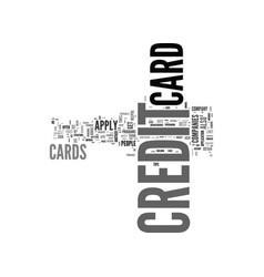 what s the best way to apply for a credit card vector image