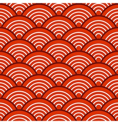 White Red Traditional Wave Japanese Chinese vector