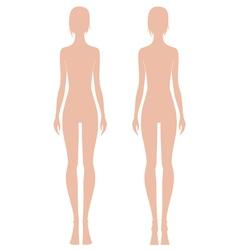 Woman fashion figure vector image vector image