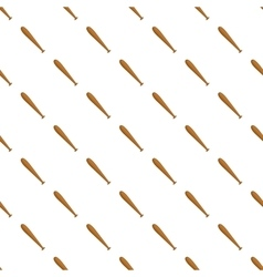 Wooden baseball bat pattern cartoon style vector