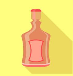 alcohol bottle icon flat style vector image