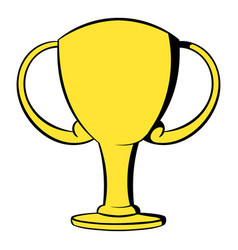 champions gold cup icon cartoon vector image