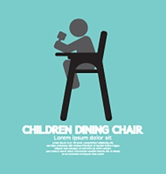 Children Dining Chair vector image