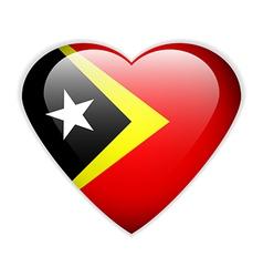 East Timor flag button vector image