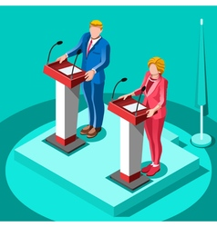 Election Infographic Political Rally Isometric vector image