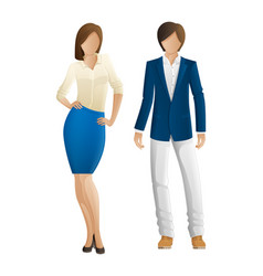 man and woman faceless models new collection vector image vector image