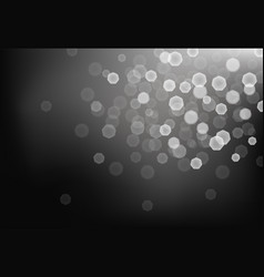 many bright blurred lights on dark background vector image vector image