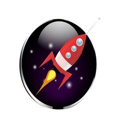 Retro Rocket Spaceship vector image