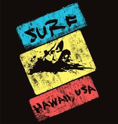 surf hawaii usa vector image vector image