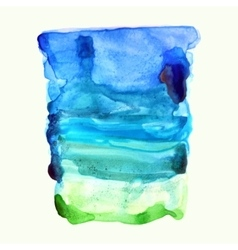 Ultramarine blue and green watercolor background vector image vector image