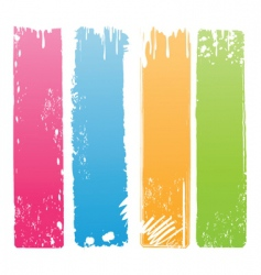 vertical grunge banners vector image vector image