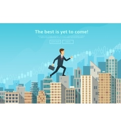 Confident businessman walking vector image