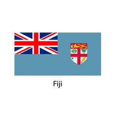 fiji flag vector image vector image
