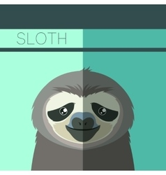 Flat postcard with Sloth vector image vector image