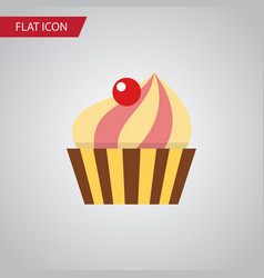 isolated confectionery flat icon sweetmeat vector image vector image