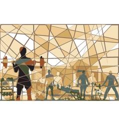 Mosaic gym vector image