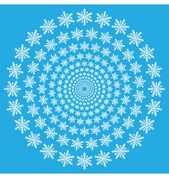 Snowflake spiral wallpaper vector image