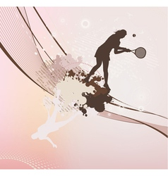 tennis girl with stains and blots vector image vector image