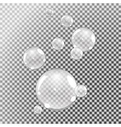 underwater bubbles set vector image vector image