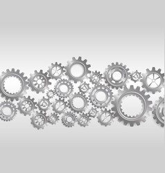 abstract gears on black background vector image