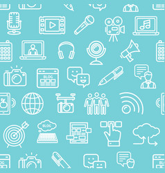 blogging pattern background on a blue vector image vector image
