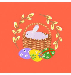 Easter red vector image