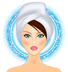 girl with towel vector image vector image