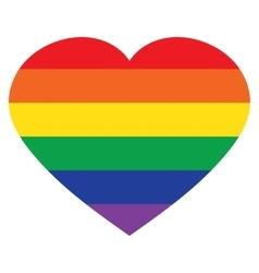 heart rainbow icon lgbt community sign vector image