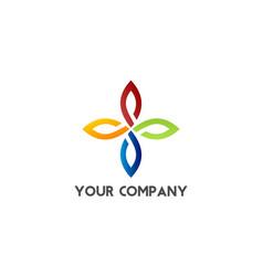 abstract company logo vector image vector image