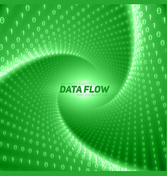 Data flow visualization green flow vector