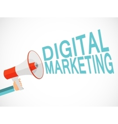 Digital Marketing Icon Hand with Megaphone vector image