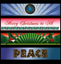 holiday banners vector image vector image