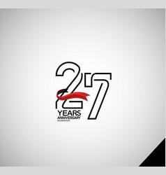 27 years anniversary logotype simple design vector