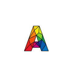 A colorful low poly letter logo icon design vector