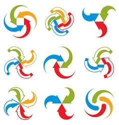 Abstract arrows symbols graphic design template c vector