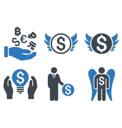 Angel Investor Flat Icons vector