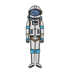Astronaut wear equipment scribble vector