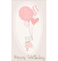 Bagirl birthday card vector