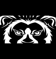 banner with a lion vector image