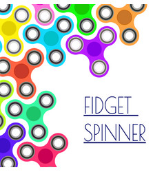 Banner with colorful fidget spinners spinner hand vector