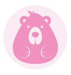Bear female logo silhouette head profile picture vector