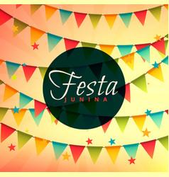 Beautiful festa junina backgorund vector