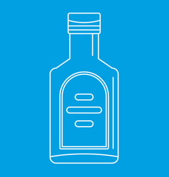 Bottle of whiskey icon outline style vector