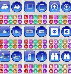 Car Tablet Plus Like New Socket Scissors Mobile vector image
